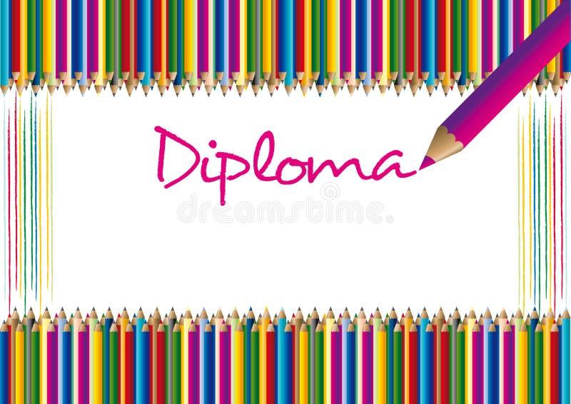 Certificado/diploma foto de archivo