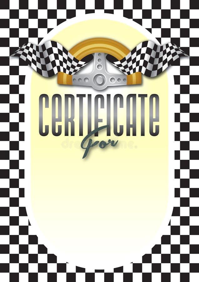 Certificado, diploma para el ganador del campeonato imágenes de archivo libres de regalías
