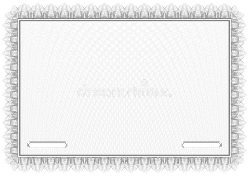 Certificado. Diplomas del modelo de Grey Vector stock de ilustración