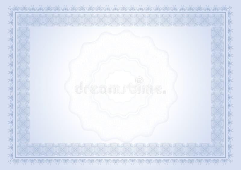 Download Certificado do diploma ilustração stock. Ilustração de quadro - 12805055
