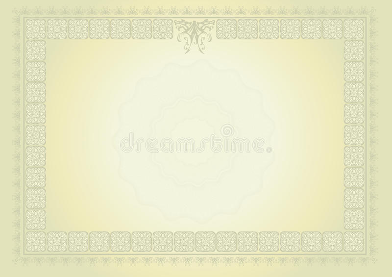 Download Certificado do diploma ilustração stock. Ilustração de elemento - 12805089