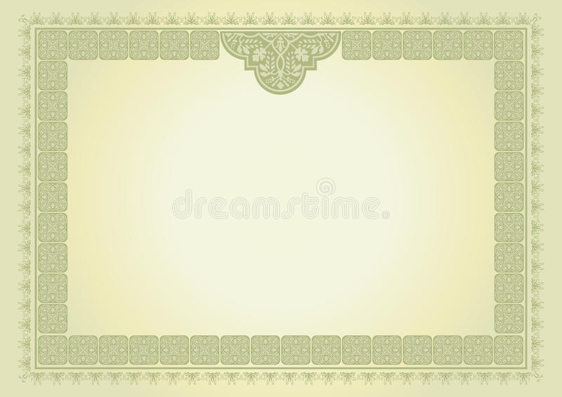 Download Certificado do diploma ilustração stock. Ilustração de formado - 12805098