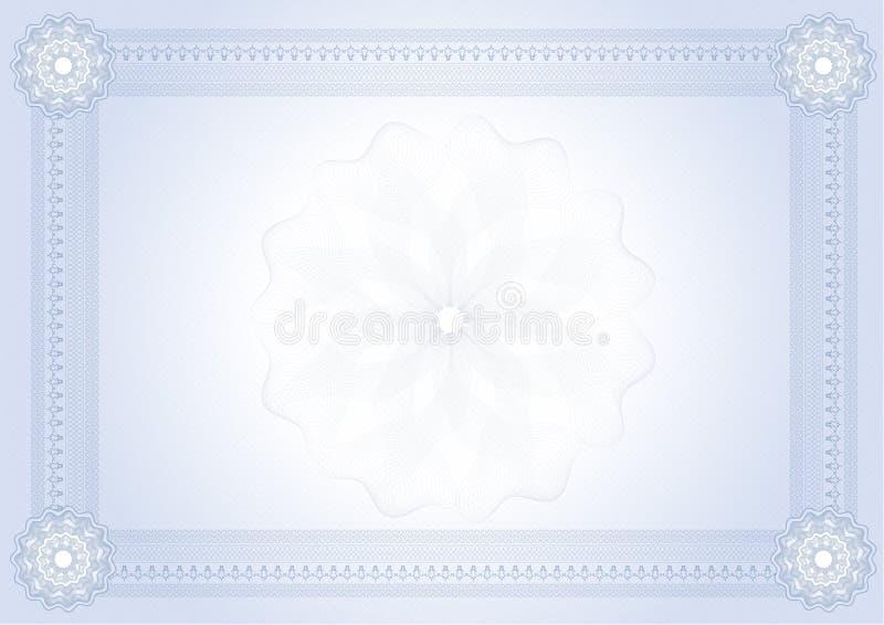 Certificado do diploma ilustração stock