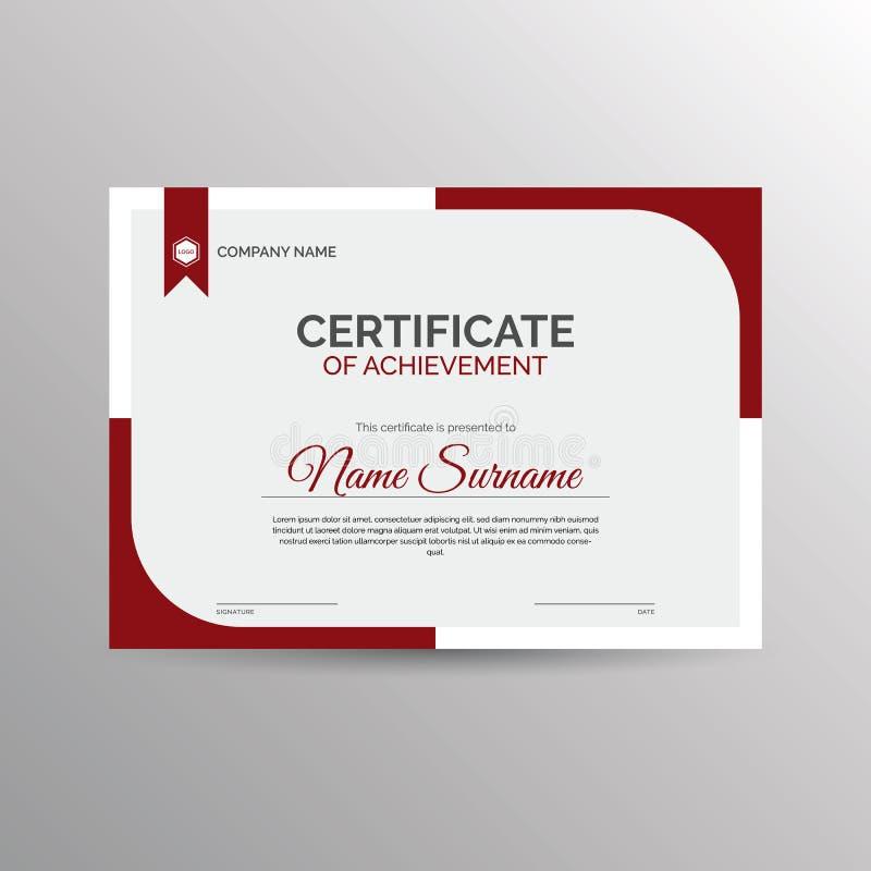 Certificado do molde da realização ilustração do vetor