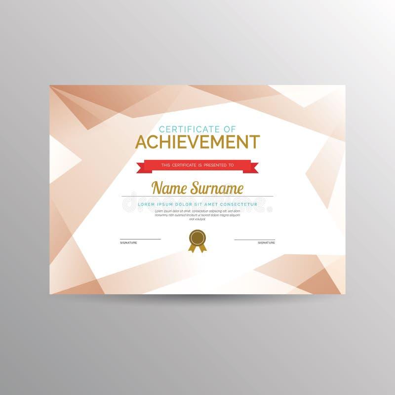 Certificado do molde da realização ilustração stock