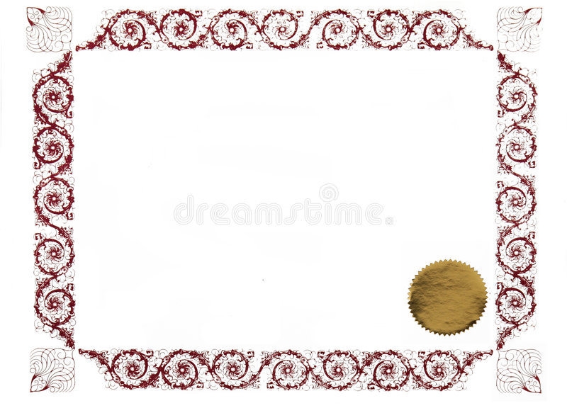 Certificado em branco foto de stock royalty free