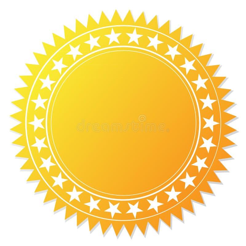 Certificado en blanco de la garantía ilustración del vector