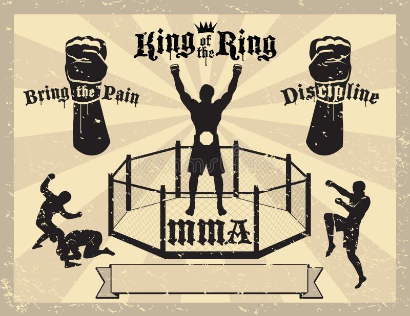 Certificado misturado das artes marciais de MMA ilustração stock