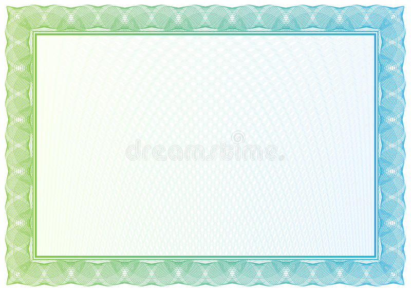 Certificado. Modelo para la moneda, diplomas del vector ilustración del vector