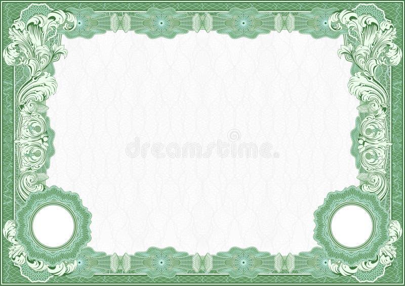 Certificado, molde do diploma Teste padrão da concessão ilustração royalty free