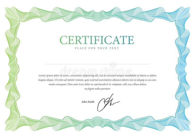 Certificado. Molde do vetor ilustração royalty free