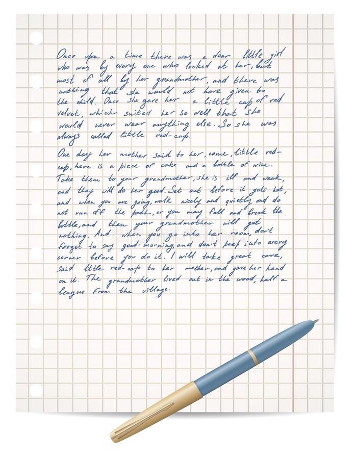 Certificado no papel e na pena do copybook ilustração stock