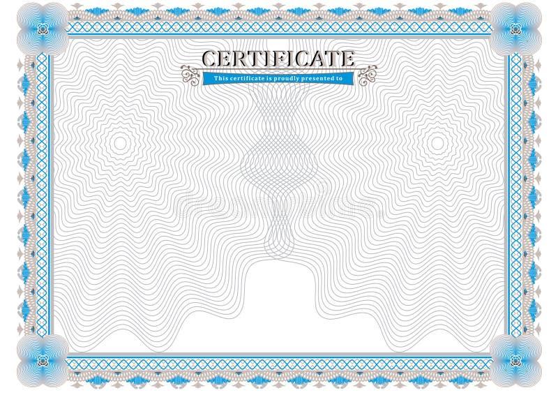 Certificado oficial stock de ilustración