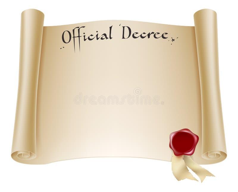 Certificado oficial de papel ilustração royalty free