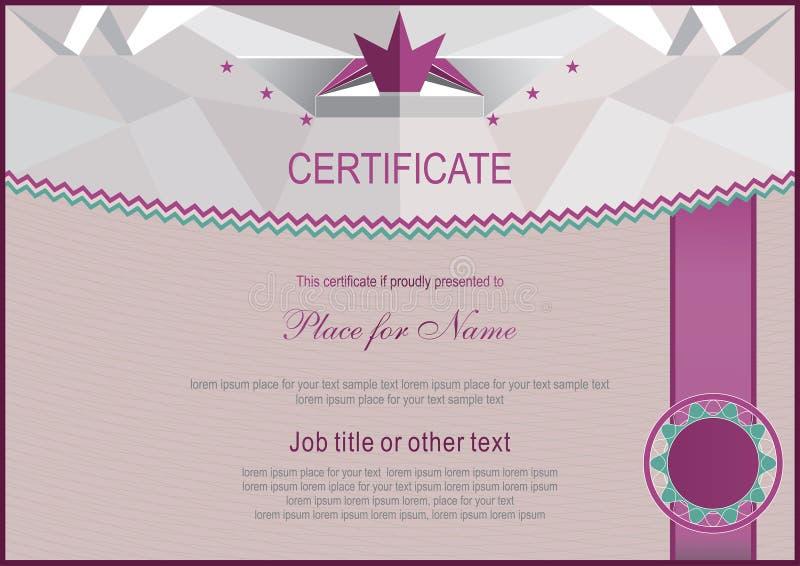 Certificado oficial Fondo ligero del triángulo libre illustration