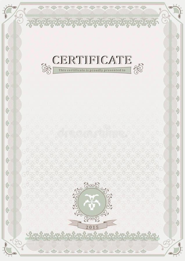 Certificado oficial ligero documento libre illustration
