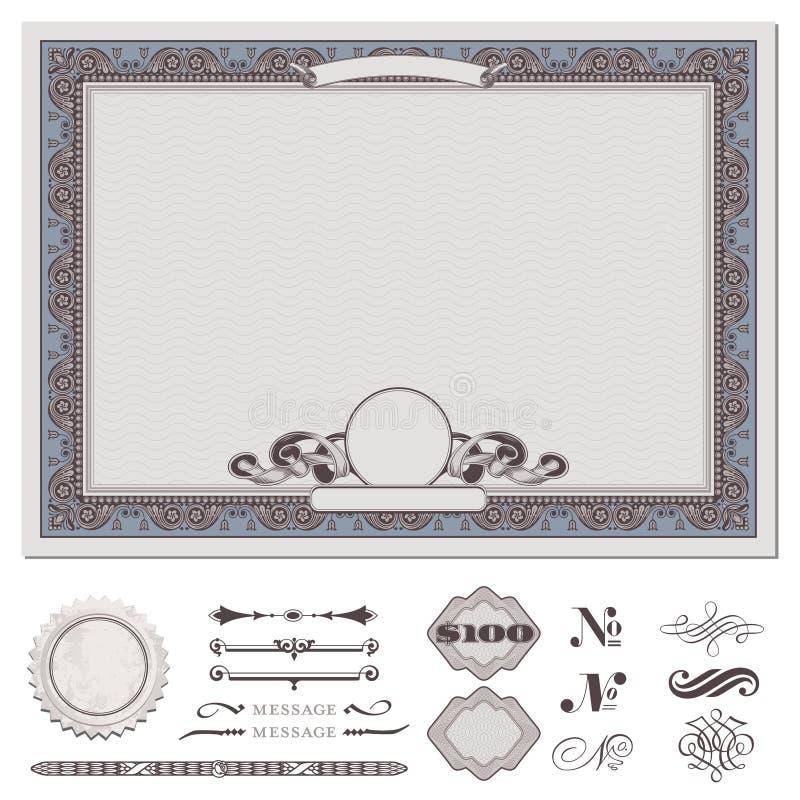 Certificado ou vale ilustração do vetor