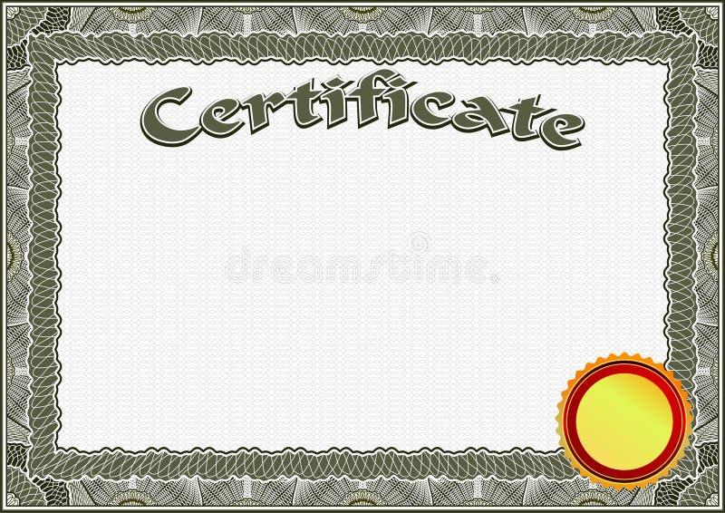 Certificado, Plantilla Del Diploma Modelo Del Premio Stock de ...