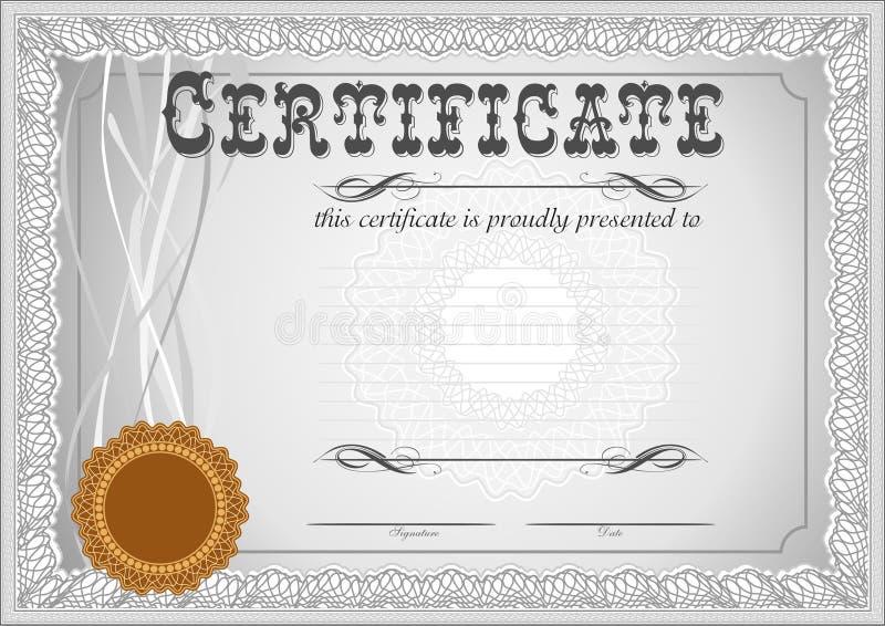 Certificado, Plantilla Del Diploma Modelo Del Premio Ilustración del ...
