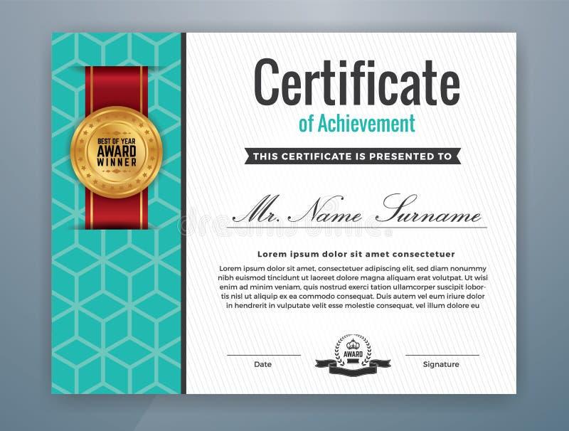Certificado Profesional Moderno Multiusos Ilustración del Vector ...