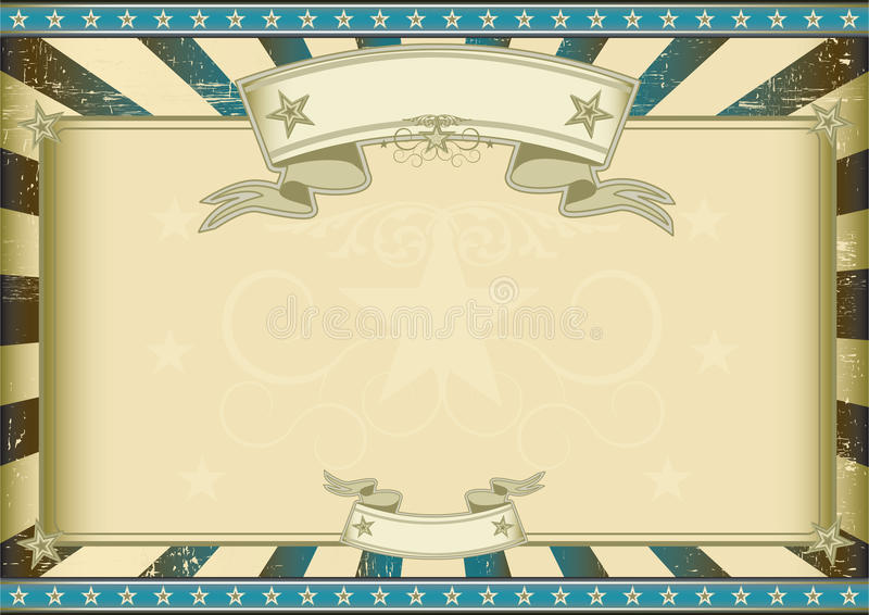 Certificado retro azul texturizado ilustración del vector