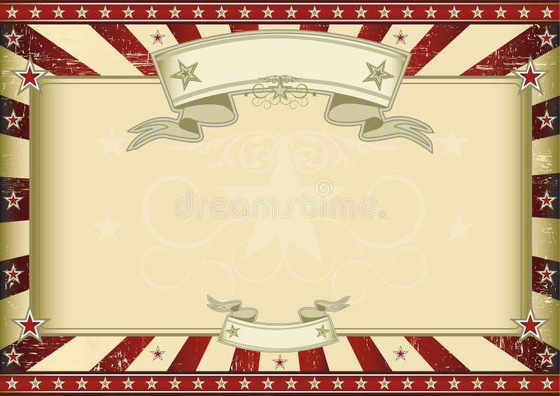 Certificado retro rojo texturizado ilustración del vector