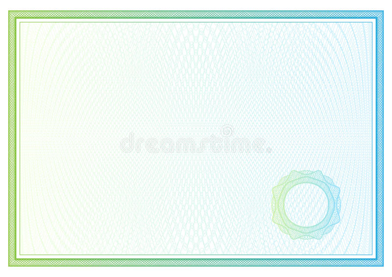Certificado. Teste padrão para a moeda, diplomas do vetor ilustração royalty free