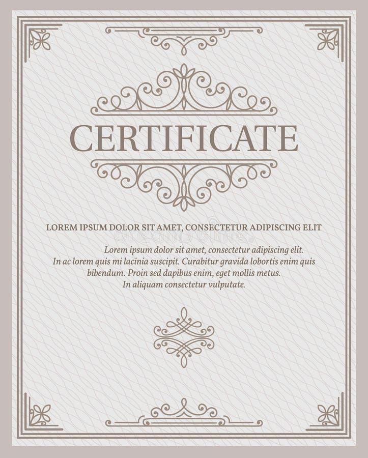 Certificado y diplomas de la plantilla libre illustration