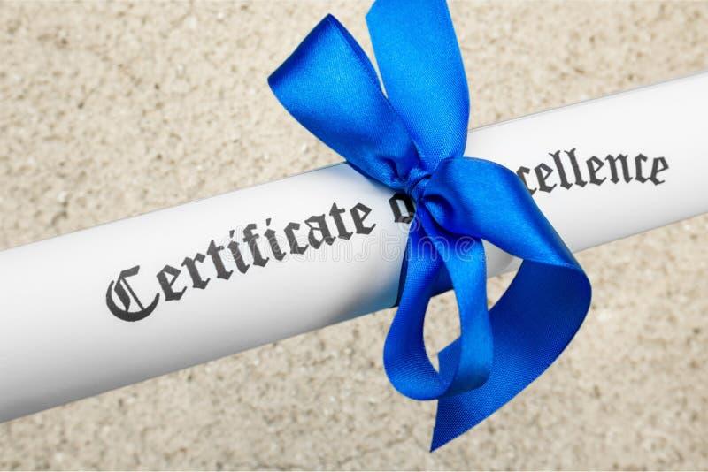 certificat photos stock