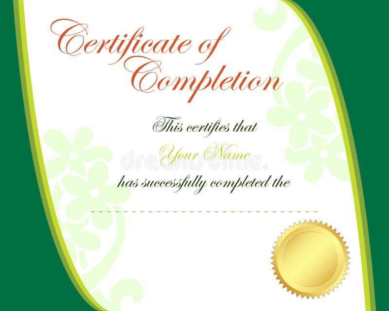 Certificat illustration de vecteur