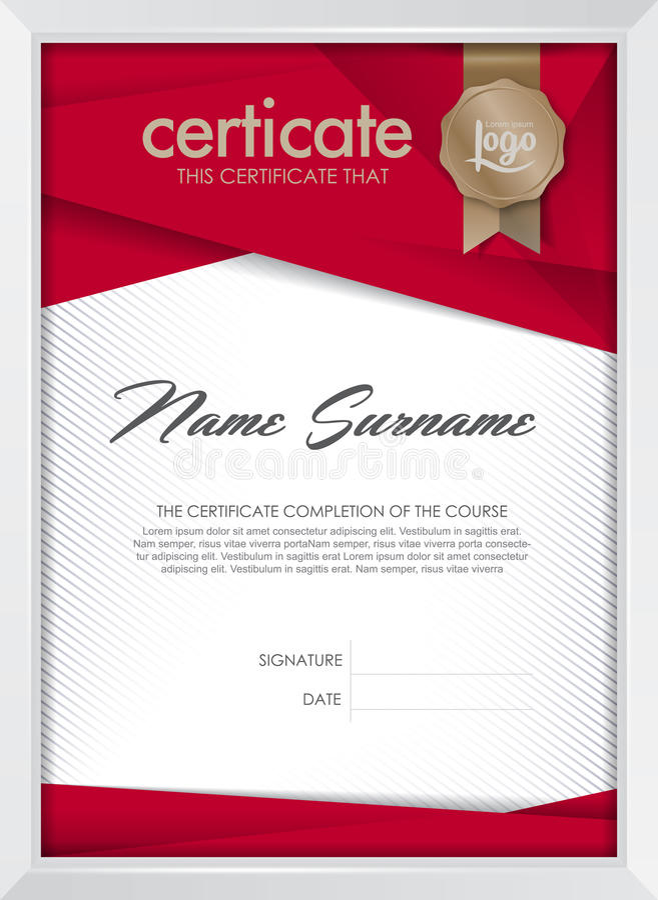 certificat photos libres de droits