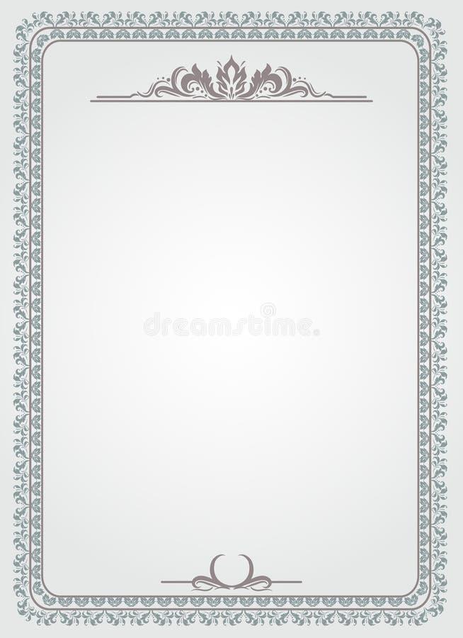 Certificat blanc illustration de vecteur