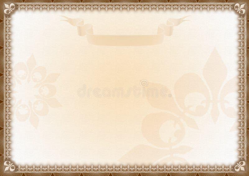 Certificat blanc de récompense illustration stock