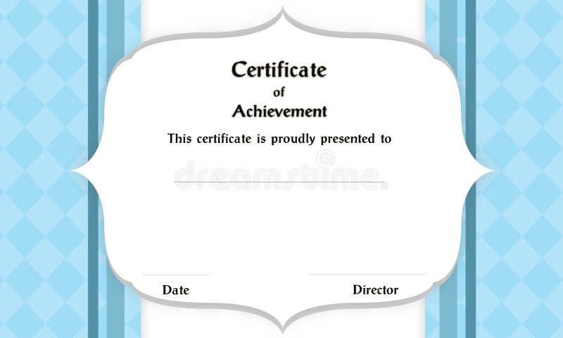 Certificat de cadre photos libres de droits