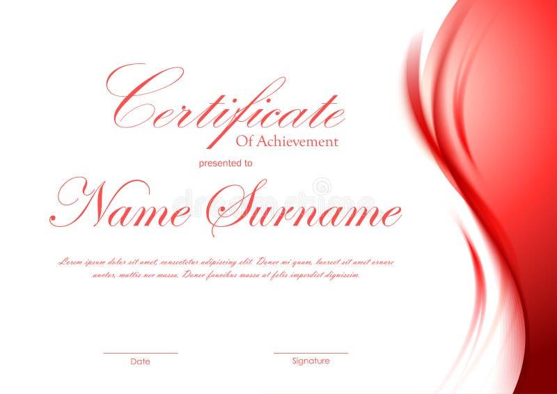 Certificat de calibre d'accomplissement illustration stock