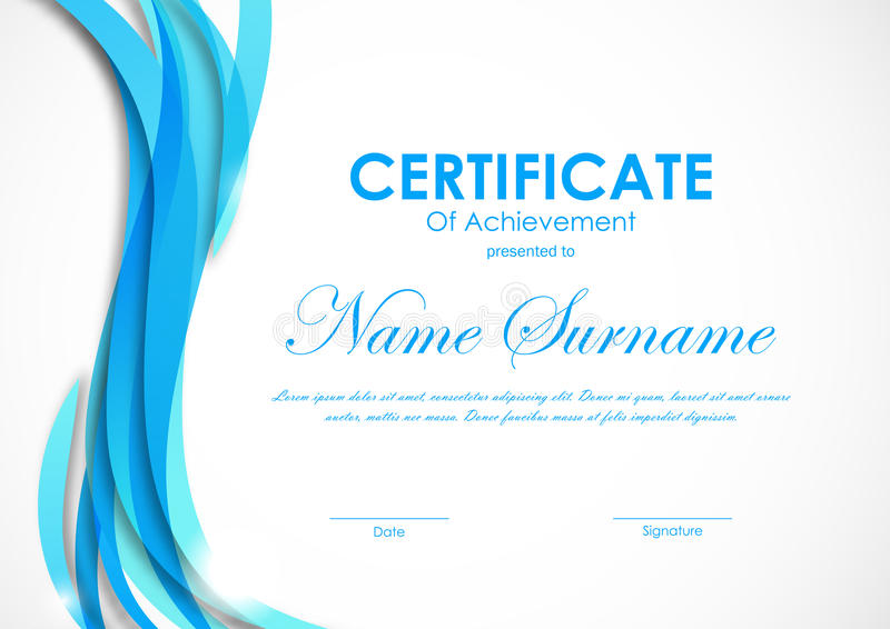 Certificat de calibre d'accomplissement illustration libre de droits