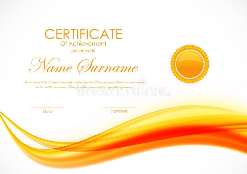 Certificat de calibre d'accomplissement illustration de vecteur