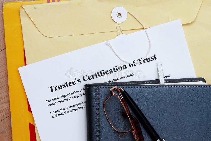 Certificat de confiance images stock