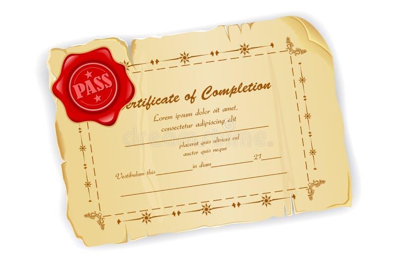Certificat de cru illustration libre de droits