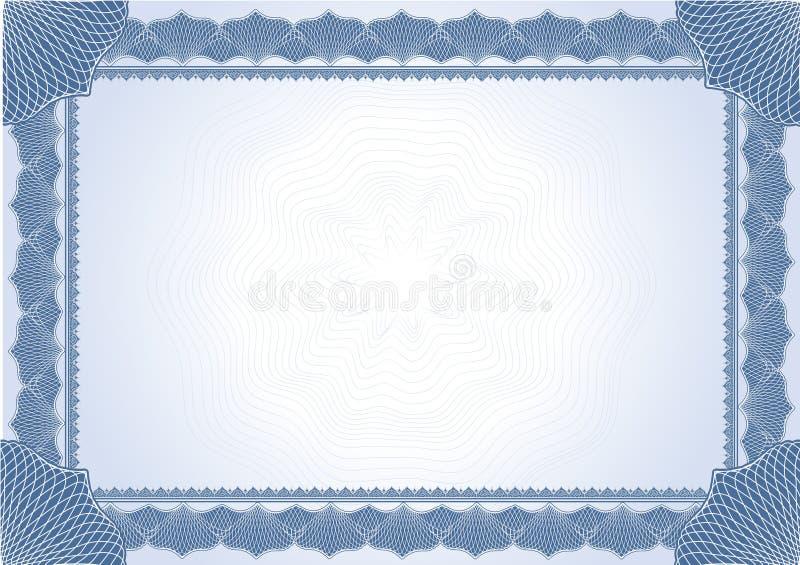 Certificat de diplôme illustration de vecteur