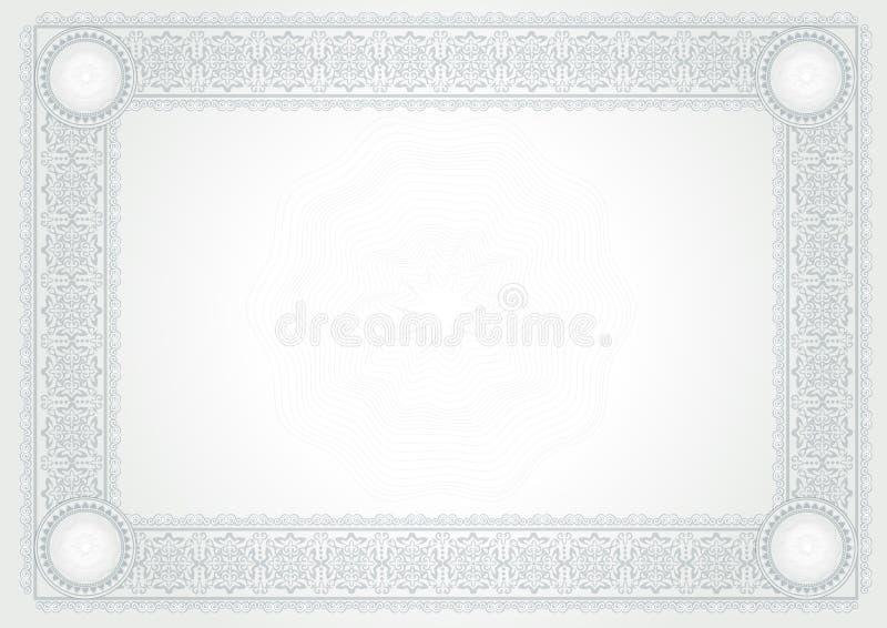 Certificat de diplôme illustration stock