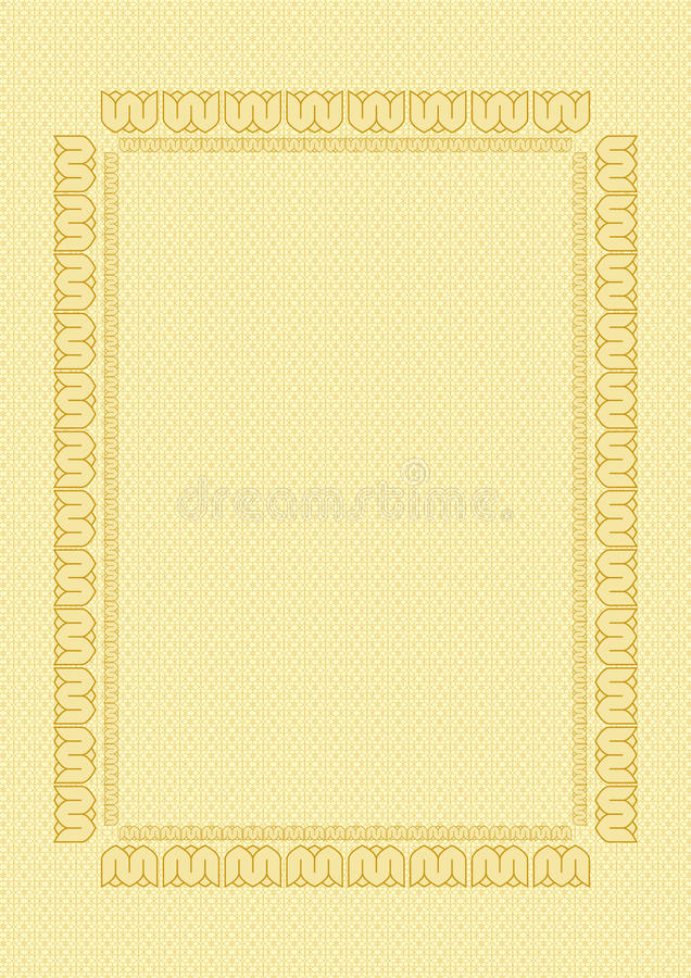 Certificat de fond avec la trame illustration libre de droits
