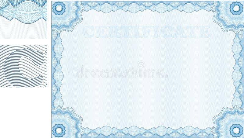 Certificat de guilloche illustration de vecteur