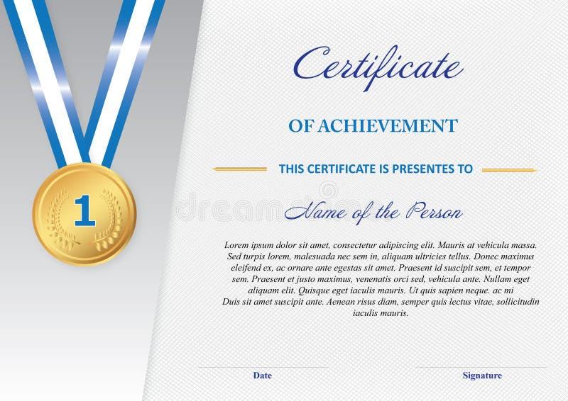 Certificat de l'accomplissement photos stock