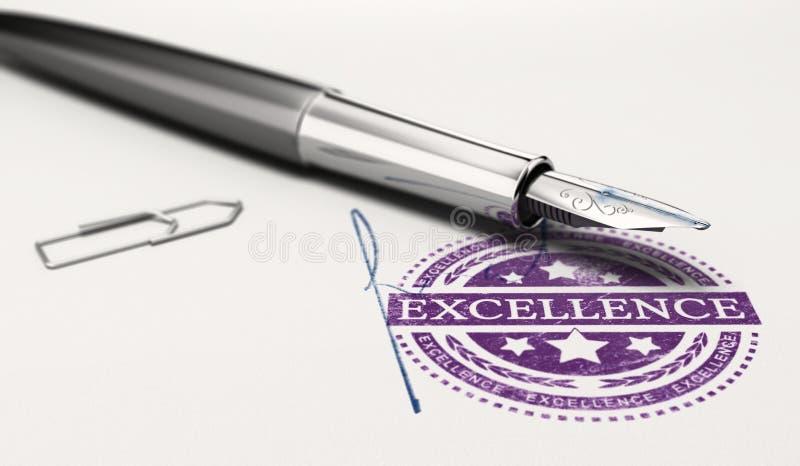 Certificat de l'excellence illustration stock