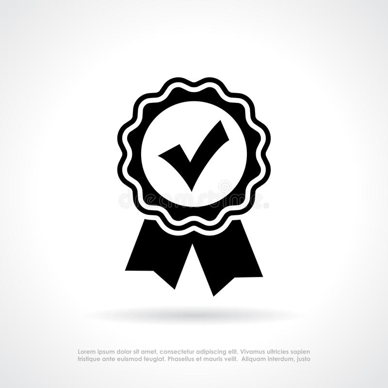 Certificat de qualité d'approbation illustration de vecteur