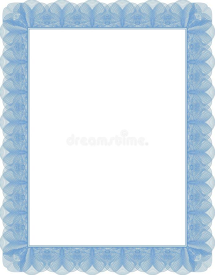 Certificat, diplôme illustration stock
