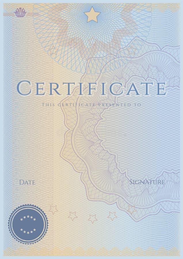 Certificat/diplôme illustration libre de droits
