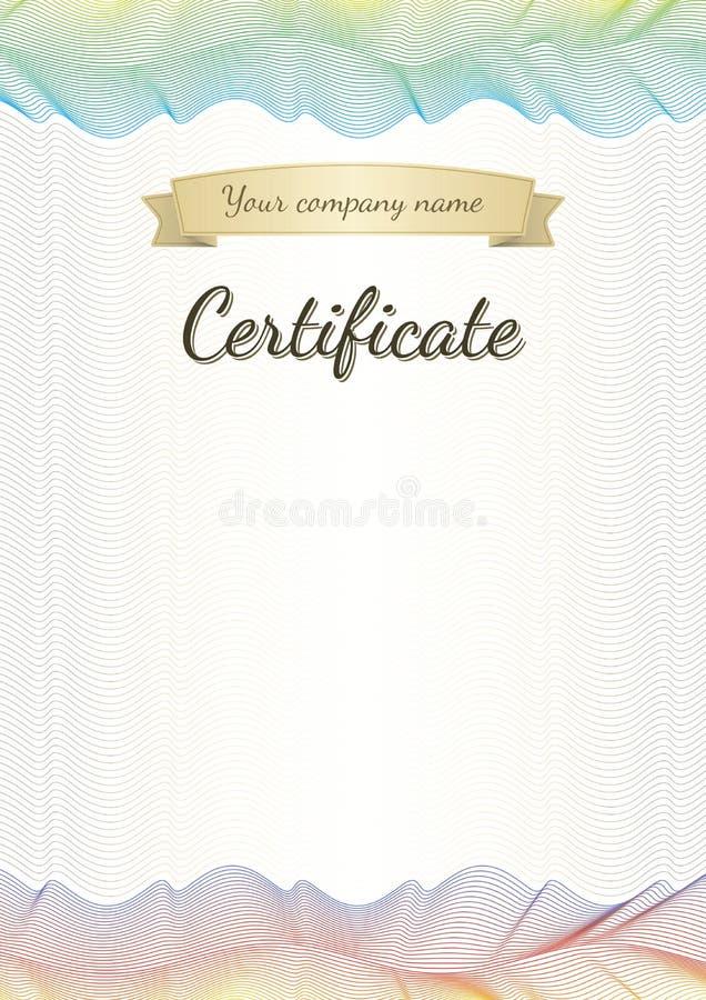Certificat, diplômé, diplôme illustration de vecteur