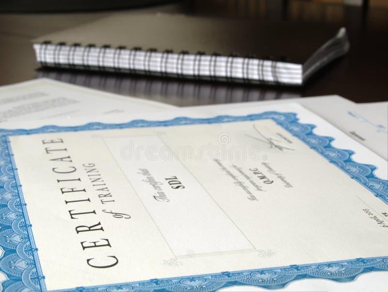 Certificat et d'autres documents images stock